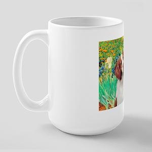 Irises/Brittany Large Mug