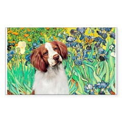 Irises/Brittany Sticker (Rectangle)