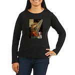 Madonna/Brittany Women's Long Sleeve Dark T-Shirt