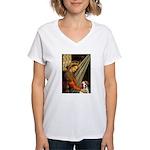 Madonna/Brittany Women's V-Neck T-Shirt