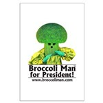 Broccoli Man for President! Large Poster