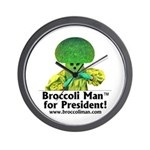 Broccoli Man for President! Wall Clock