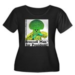 Broccoli Man for President! Women's Plus Size Scoo