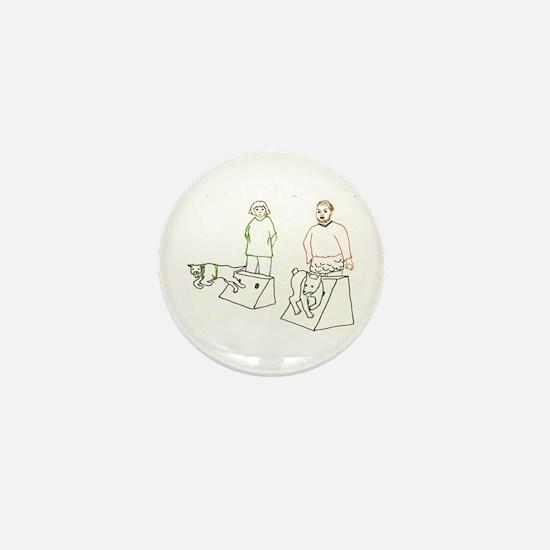 Flyball Showdown Mini Button