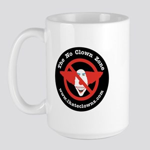 No Clown Zone Large Mug