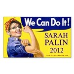 Sarah Palin We Can Do It Rectangle Sticker