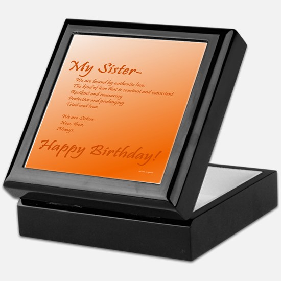 My Sister Birthday Keepsake Box
