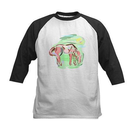 Pretty Colored Horse Kids Baseball Jersey