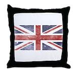 BRITISH UNION JACK (Old) Throw Pillow