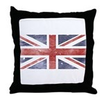 BRITISH UNION JACK (Old) Throw Pillow