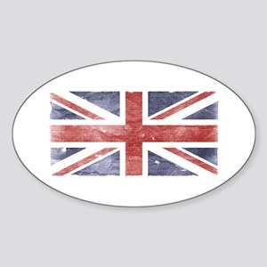 BRITISH UNION JACK (Old) Oval Sticker