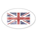 BRITISH UNION JACK (Old) Oval Sticker