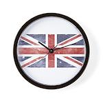 BRITISH UNION JACK (Old) Wall Clock