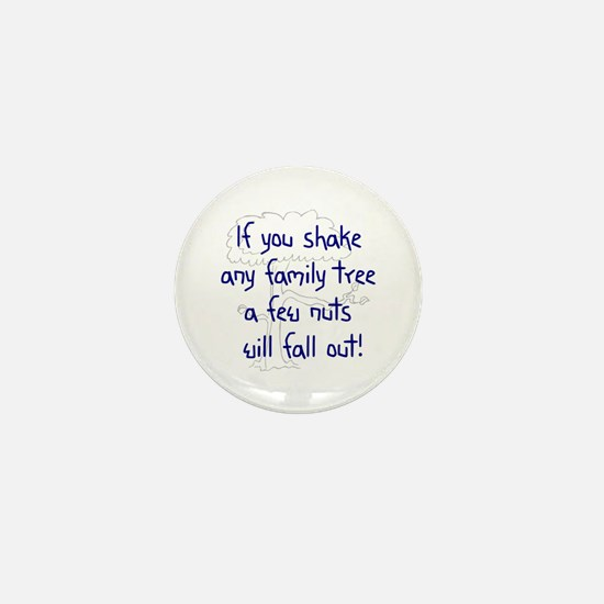 Shaking Family Tree (Blue) Mini Button