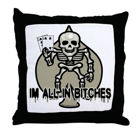 Halloween Poker Throw Pillow