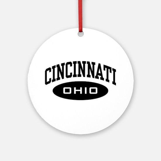 Cincinnati Ohio Ornament (Round)