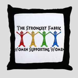 Women Supporting Women Throw Pillow
