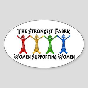 Women Supporting Women Sticker (Oval)