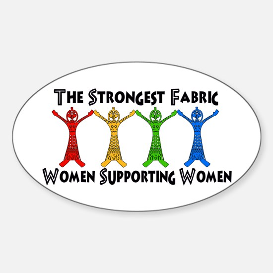 Women Supporting Women Sticker (Oval)