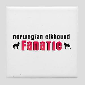 Norwegian Elkhound Fanatic Tile Coaster
