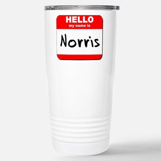 Hello my name is Norris Stainless Steel Travel Mug