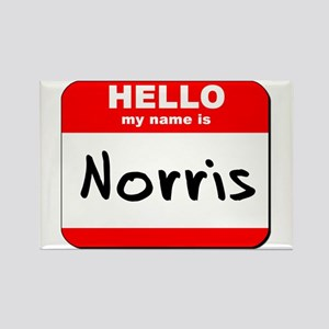 Hello my name is Norris Rectangle Magnet