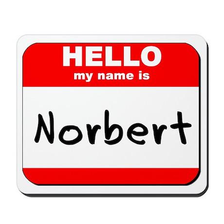 Hello my name is Norbert Mousepad