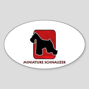 Miniature Schnauzer Oval Sticker