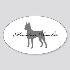 Miniature Pinscher Oval Sticker