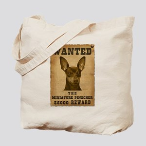 """Wanted"" Miniature Pinscher Tote Bag"