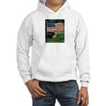 Who Stands For The American Flag Hooded Sweatshirt