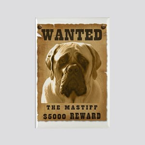 """Wanted"" Mastiff Rectangle Magnet"