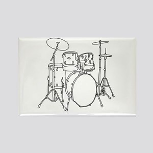 Drumset Rectangle Magnet