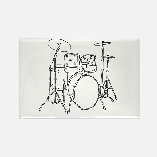 Drumset Rectangle Magnet