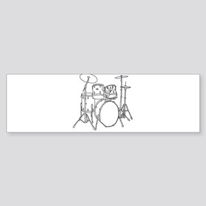 Drumset Bumper Sticker