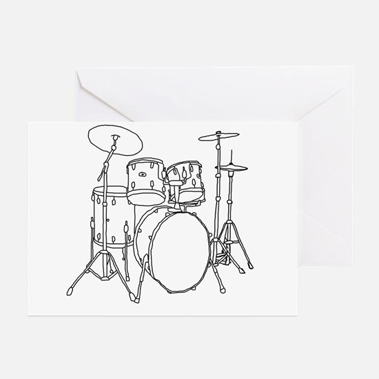 Drumset Greeting Cards (Pk of 10)