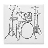 Drums Tile Coasters
