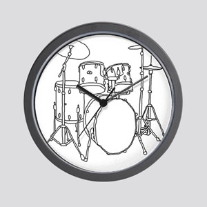 Drumset Wall Clock