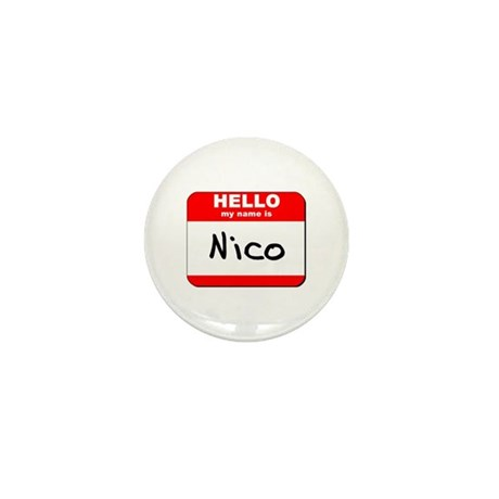 Hello my name is Nico Mini Button (10 pack)