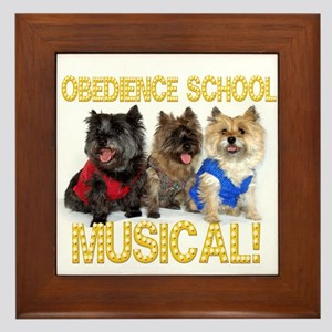 Cairn Terrier Obedience School Framed Tile