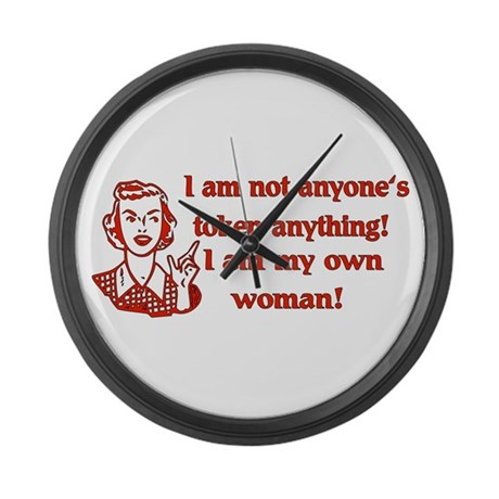 Not Your Token Woman Large Wall Clock