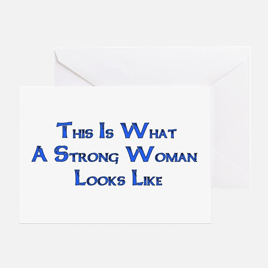 Strong Woman Example Greeting Card