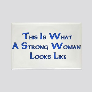 Strong Woman Example Rectangle Magnet