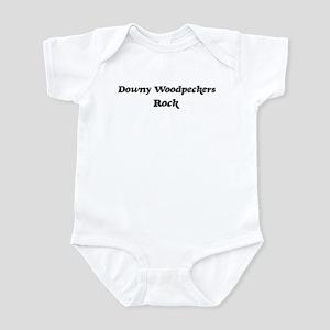 Downy Woodpeckerss rock Infant Bodysuit