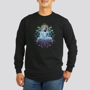 peaceful buddha Long Sleeve Dark T-Shirt
