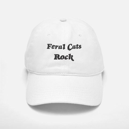 Feral Catss rock Baseball Baseball Cap