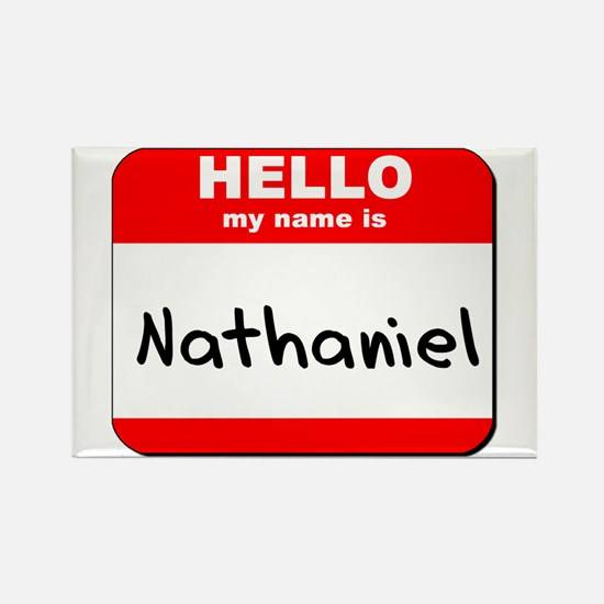 Hello my name is Nathaniel Rectangle Magnet