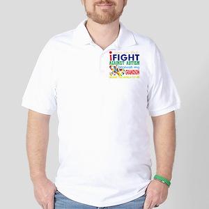 Im Fight Against Autism Grandson Means Golf Shirt