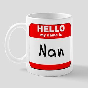 Hello my name is Nan Mug