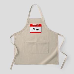 Hello my name is Nan BBQ Apron